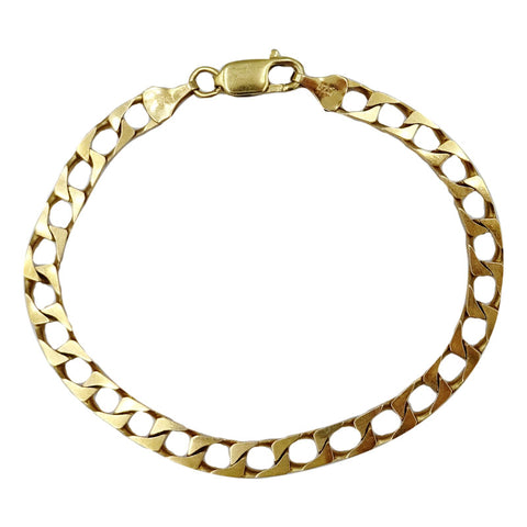 9ct Yellow Gold 375 Hall Marked Solid Curb Quality Unisex Bracelet 7.5inch 8.7g