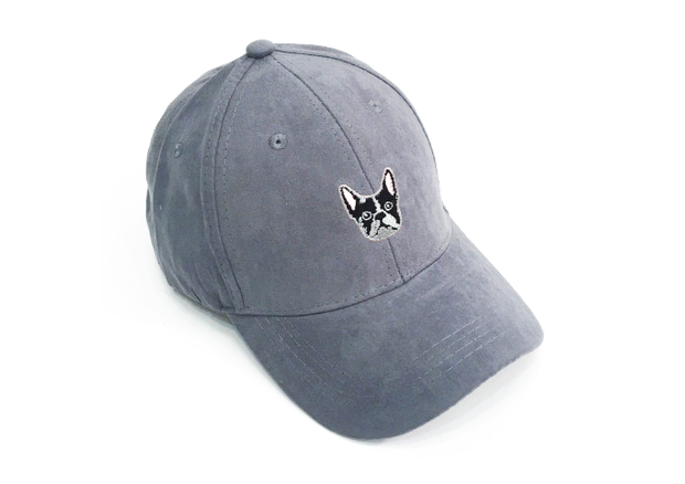 Frenchie Grey Suede Cap