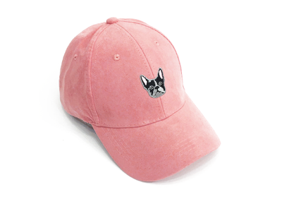 Frenchie Pink Suede Cap
