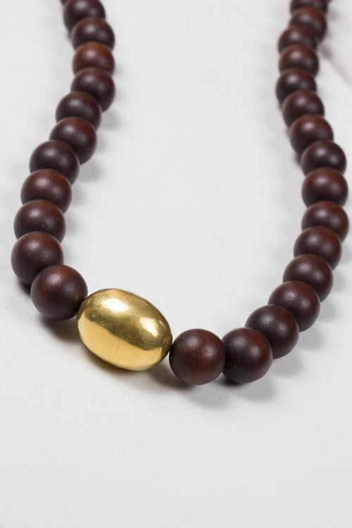 Wooden Beads and Gold Nugget