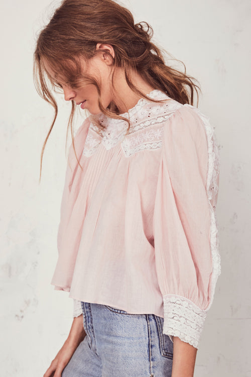 Phoebe Top - Pearly Pale Pink