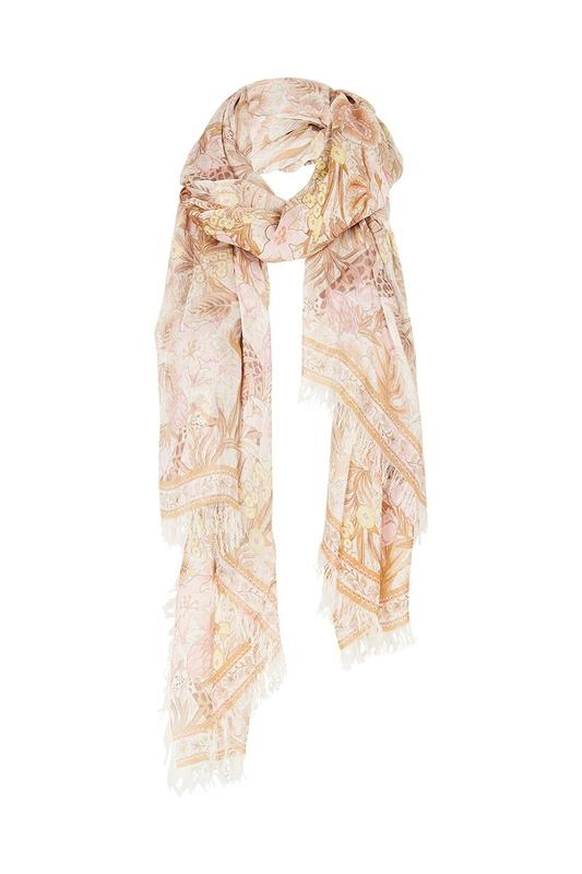 Jungle Travel Scarf - Cream