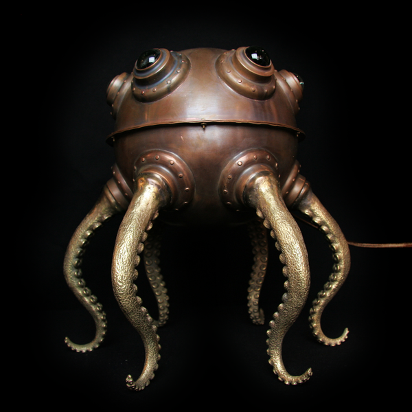 Copper Father Octopod Lamp