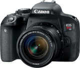 Canon EOS Rebel T7i DSLR Camera with EFS 1855mm IS STM Lens Black
