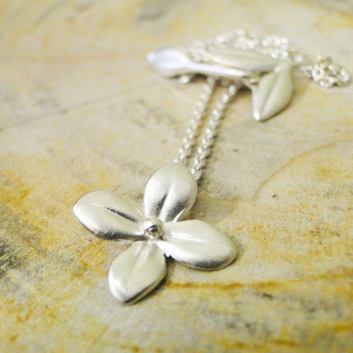 Cherry Blossom Sterling Silver Pendant Necklace