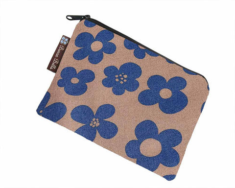 Catch All Zippered Pouch - Blue Bayou Fabric