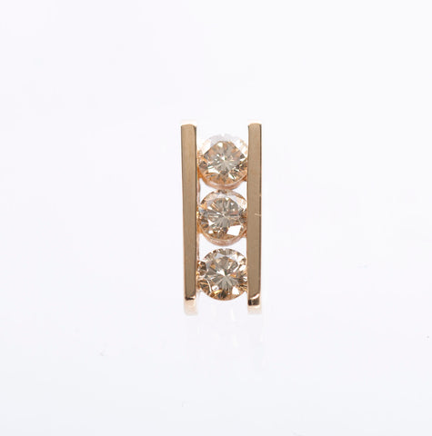 14k Yellow Gold .45tcw Diamond Pendant
