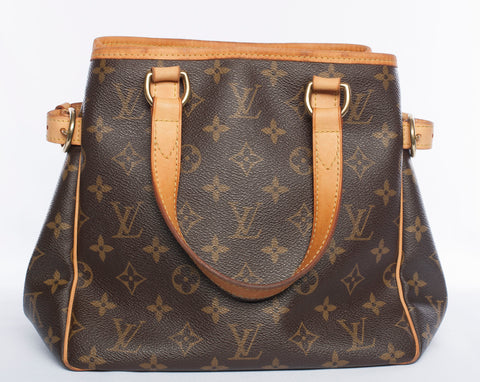 Authentic LOUIS VUITTON Monogram Batignolles Vertical PM