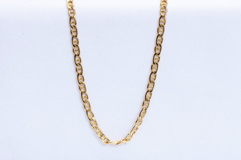 18k Yellow Gold Anchor Chain