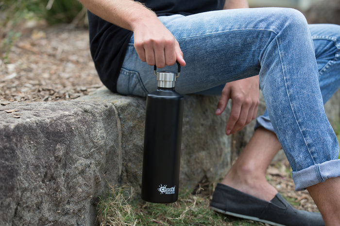 1 Litre Classic Insulated Bottle - Matte Black