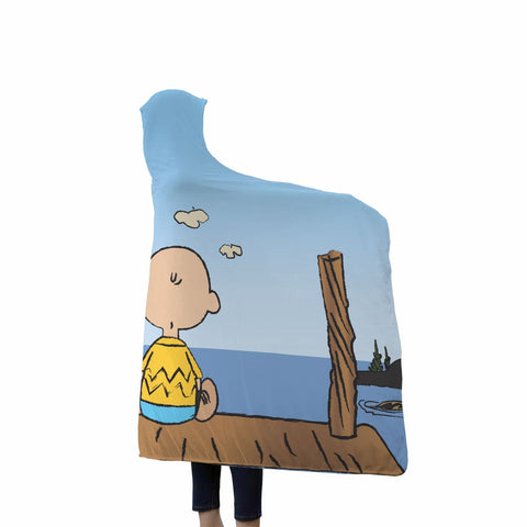 Charlie Brown & Snoopy Hooded Blanket