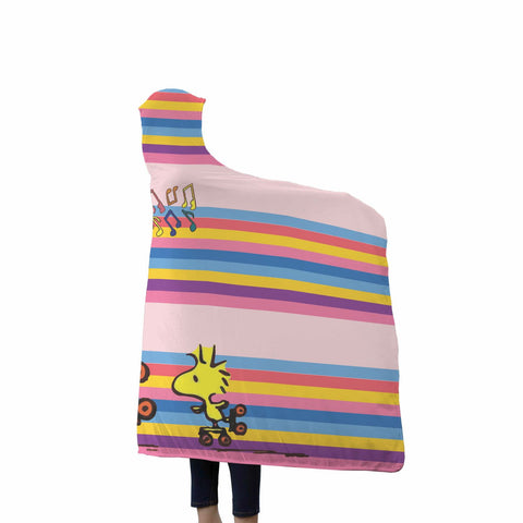 Snoopy & Woodstock Good Tunes Hooded Blanket