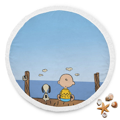 Charlie Brown & Snoopy Beach Blanket