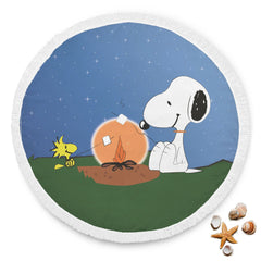 Snoopy & Woodstock Campfire Beach Blanket
