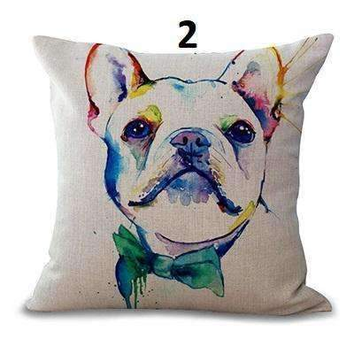 Artistic Bulldog Pillow Covers