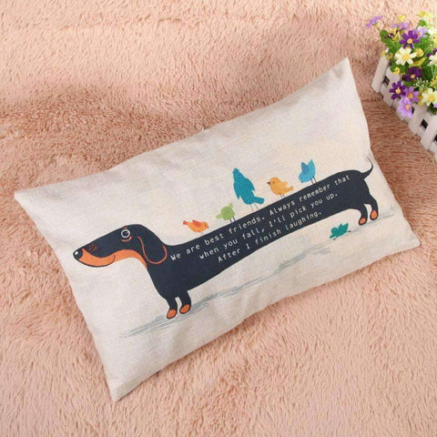 Happy Puppin Dachshund Series II Pillow Covers