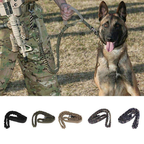 Military Training Tactical Dog Bungee Leash 5 colors