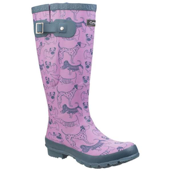 Cotswold Windsor Print Wellington Boots-ShoeShoeBeDo
