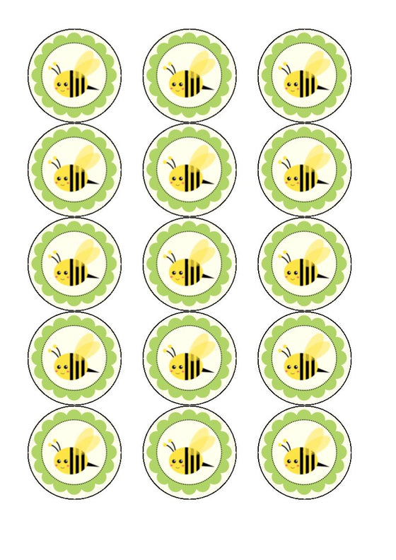 Buzzy Bee Edible Cake & Cupcake Toppers
