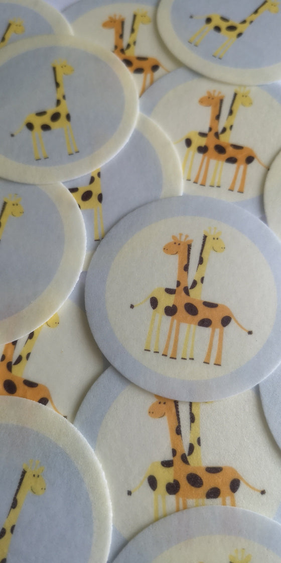 Cute Giraffe Edible Cake & Cupcake Toppers