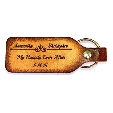 My Happily Ever After Leather Keychain - Love Chirp Gifts