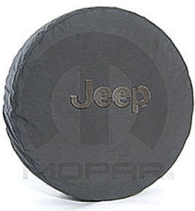 Jeep Anti-Theft Tire Cover, Black w/Black or Dark Gray Logo (P215/75R16)