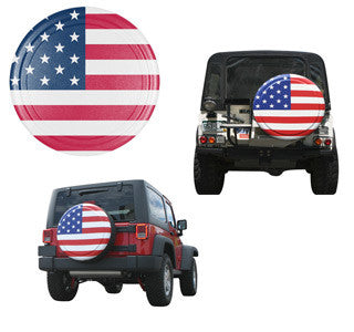 Boomerang Rigid American Flag Jeep Tire Covers (Liberty KJ, Wrangler CJ, YJ, TJ, & JK)