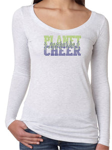 Planet Cheer Ladies' Bleeding Long-Sleeve Scoop Neck - Monograms by K & K