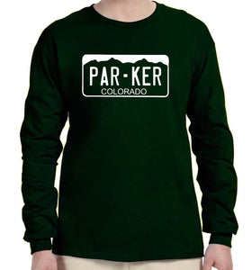 Parker License Plate Long-Sleeve Shirt - Monograms by K & K