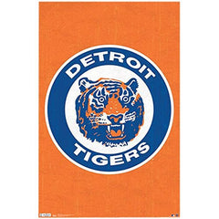 Buy to Decorate Wall with Detroit Tigers Retro Logo Sports Poster Print (22x34)