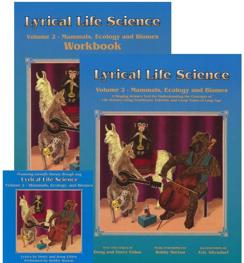 LYRICAL LIFE SCIENCE, VOL 2: MAMMALS, ECOLOGY & BIOMES (SET) - Temporarily Out of Stock