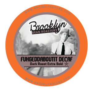 Brooklyn Bean DECAF Fuhgeddaboutit Blend Coffee - K-cup 2.0 Compatible