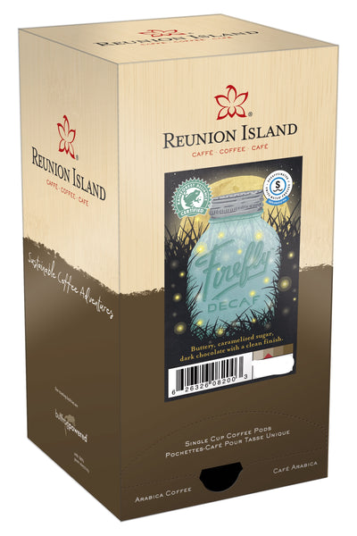 Reunion Island Coffee Pods - Firefly DECAF Swiss Water Process - 11grams
