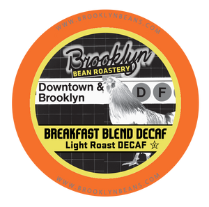 Brooklyn Bean DECAF Breakfast Blend Coffee, k-cup 2.0 Comatible