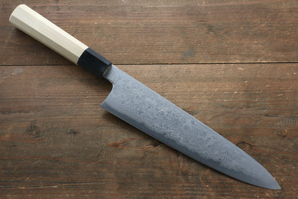 Kikumori Blue Steel No.1 Damascus Gyuto Japanese Knife 240mm with Magnolia Handle