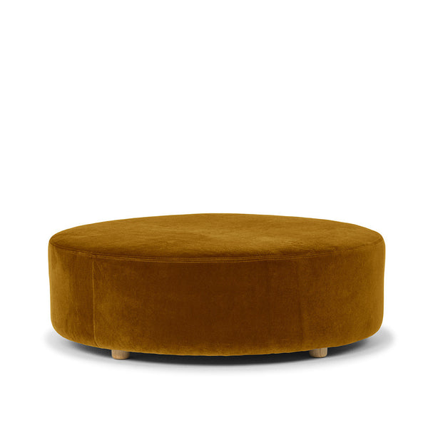 Mustard Drum Ottoman - Available on Pre-order