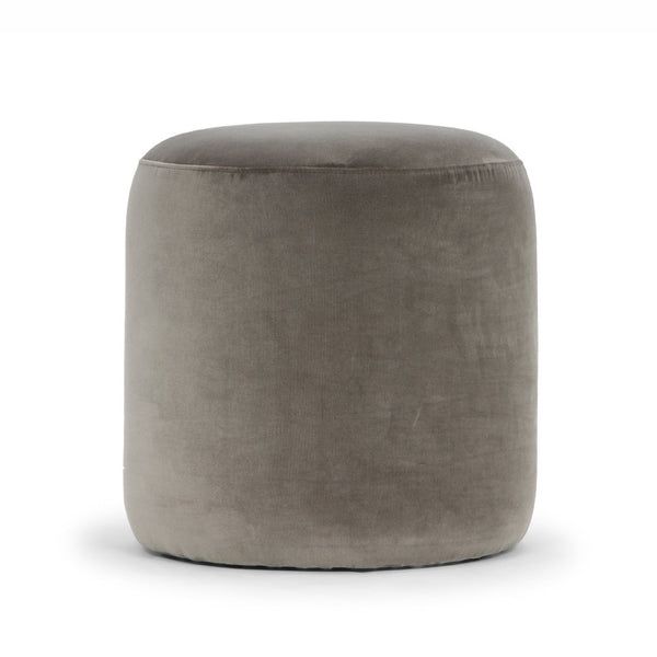 Mini Drum Ottoman - Mouse Grey