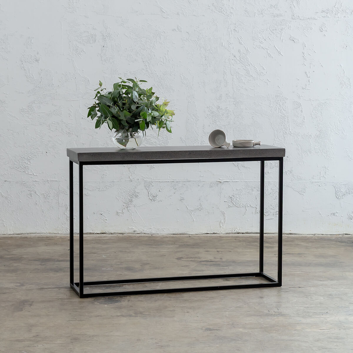 ARIA CONCRETE GRANITE CONSOLE HALL TABLE   |  CONCRETE TABLE  |  INDOOR OUTDOOR FURNITURE