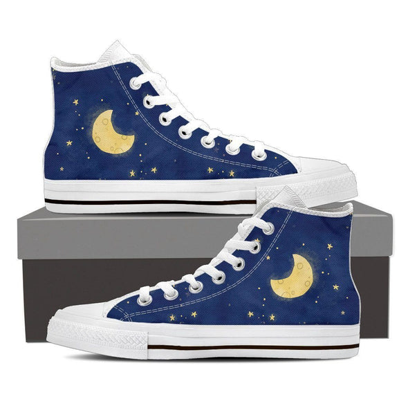 Moon and Stars High Tops