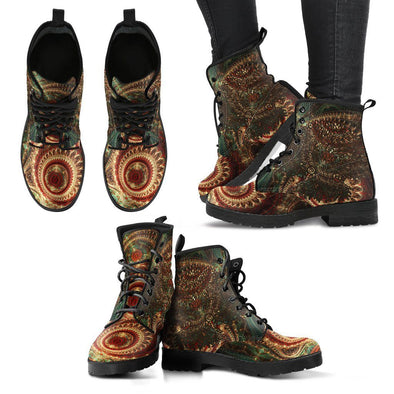 HandCrafted Mystical Tree of Life Mandala Boots