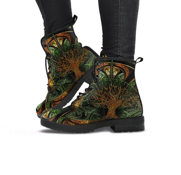 Handcrafted Fractal Tree of Life Boots.