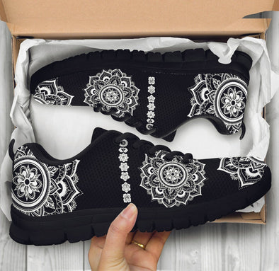Limited Time 60% Black and White Mandala Chakra Handcrafted Sneakers