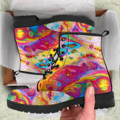 Handcrafted Abstract 1 Boots .