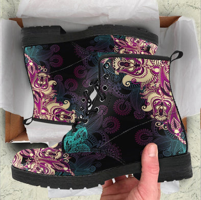Handcrafted Paisley  Mandala 1 Boots