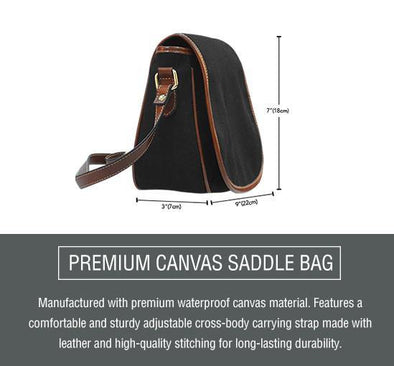 Aloha Canvas Saddle Bag