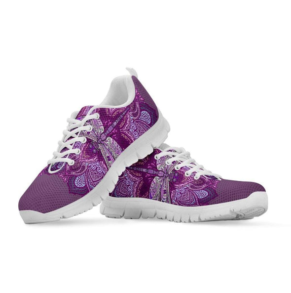 Purple Dragonfly Mandala Sneakers