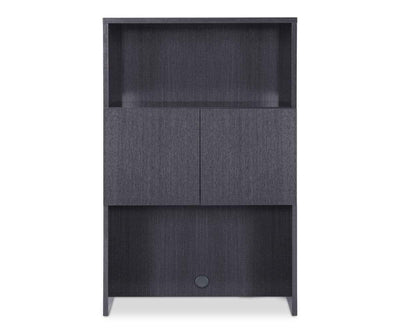 Mondiana Lateral File Hutch High Gloss Grey - Scandinavian Designs