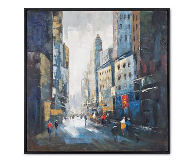Street Life Oil Painting Multi - Scandinavian Designs