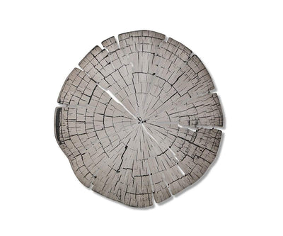 Tree Ring Metal Art Grey - Scandinavian Designs