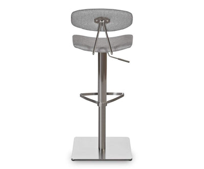 Lena Fabric Barstool LIGHT GREY - Scandinavian Designs